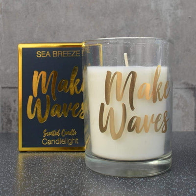 Candlelight Home Boxed Candle Candlelight Make Waves Scented Candle in Gift Box Sea Breeze Scent 220g 4PK
