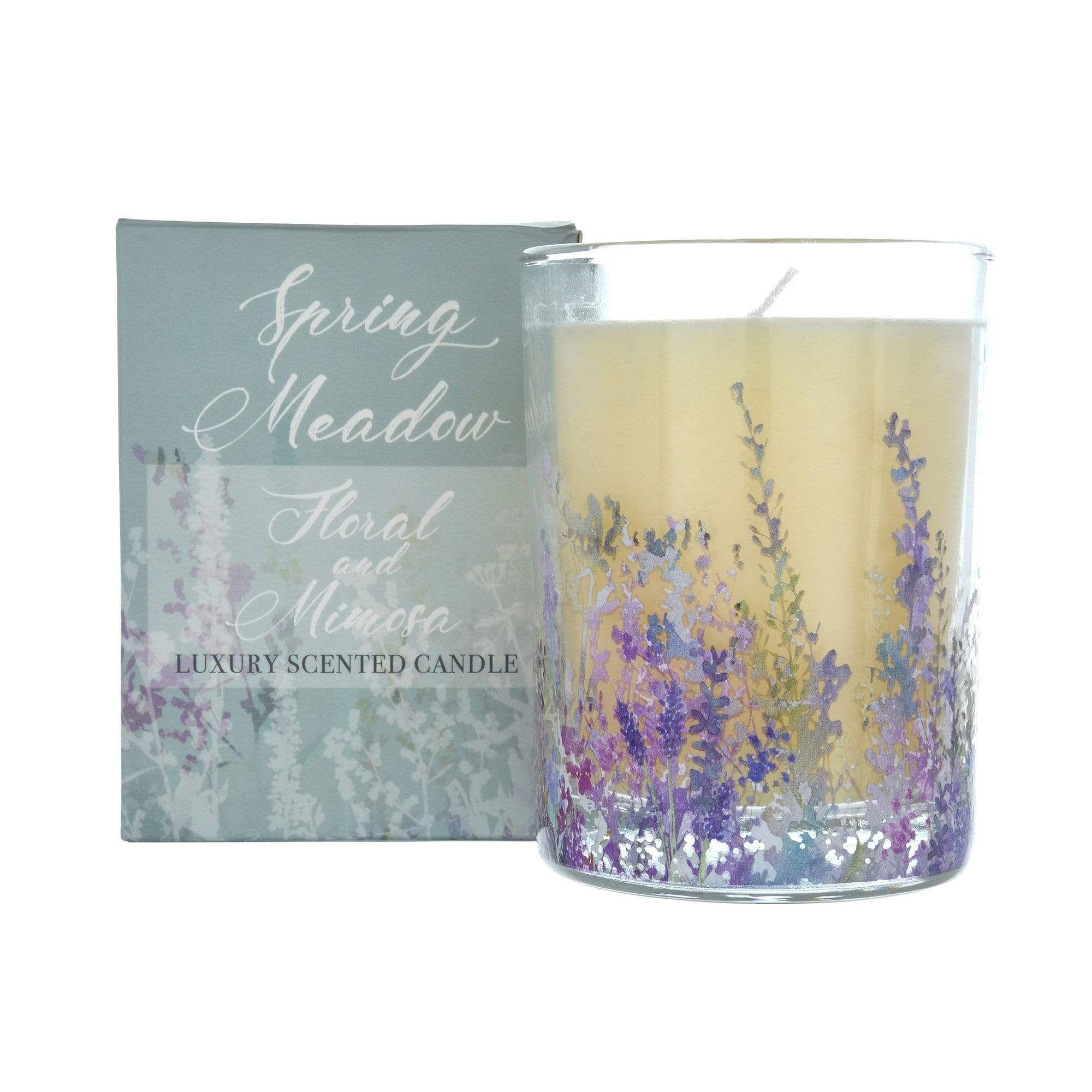 Summer Meadows Wax Filled Pot Candle in Gift Box Floral 11cm 6PK