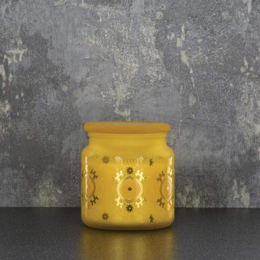 Candlelight Home Candle Candlelight Bohemian Large Glass Candle Amber Lily Scent 350g 6PK