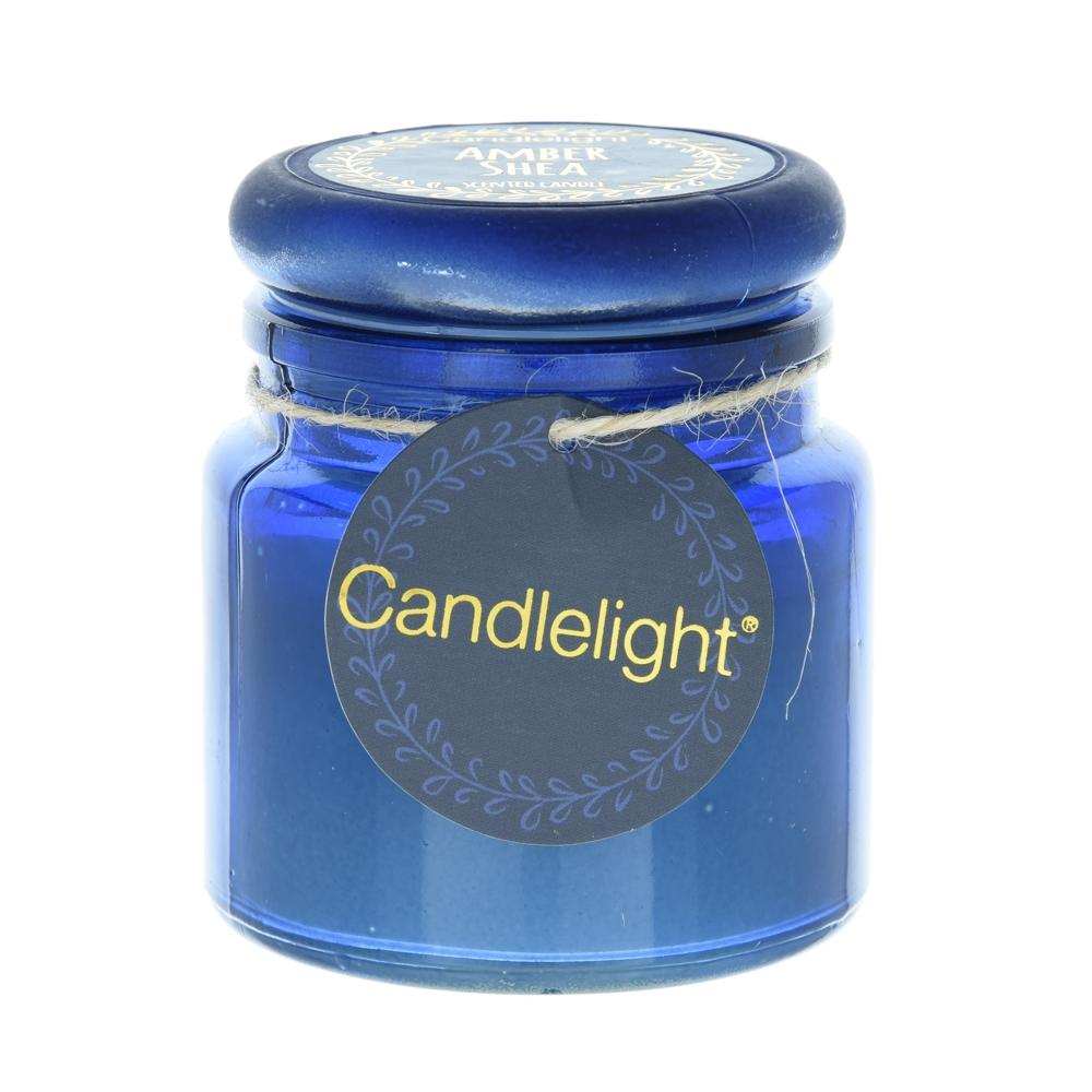 Candlelight Bohemian Small Glass Candle Amber Shea Scent 60g 6PK