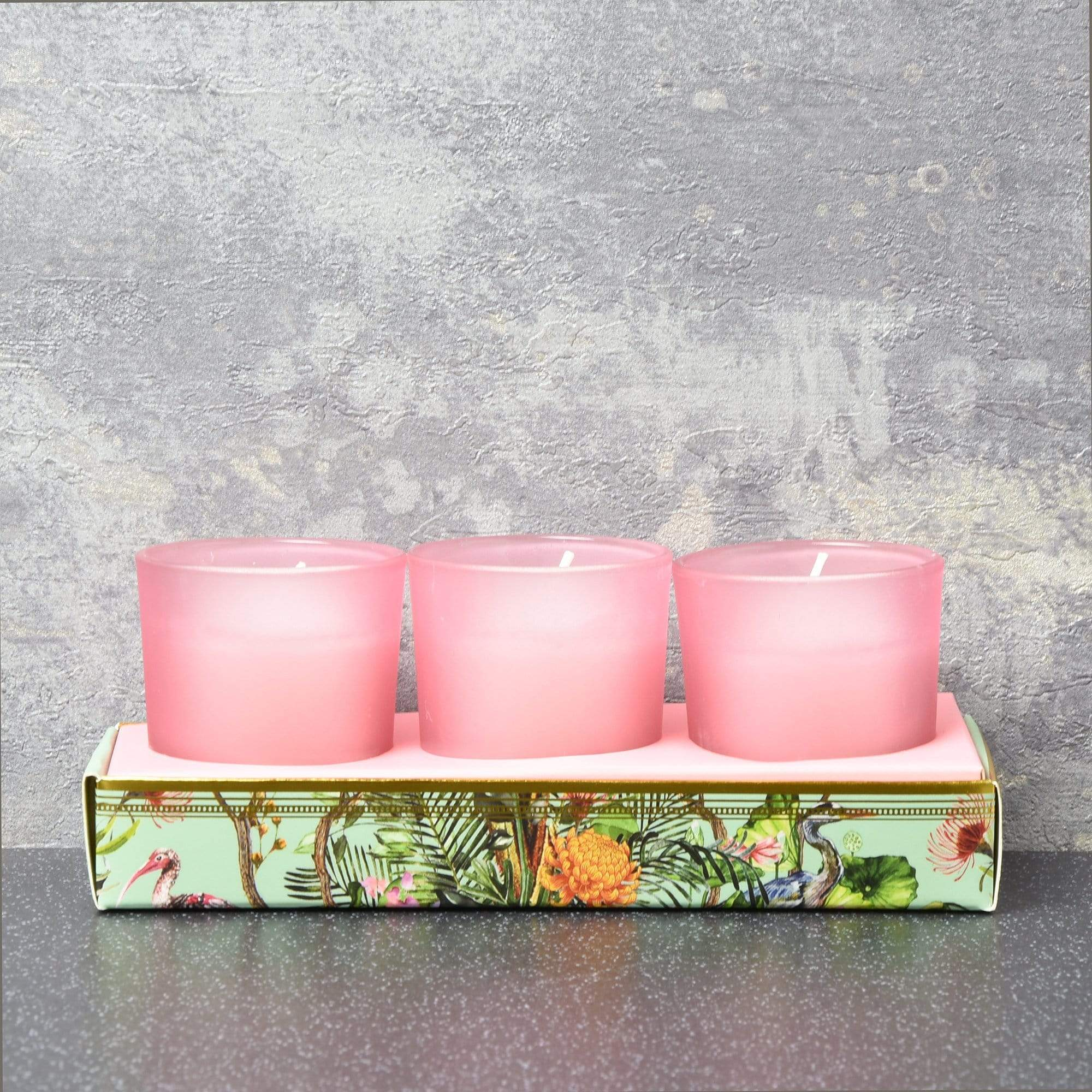 Candlelight Home Candle Candlelight Chinoiserie Set of 3 Wax Filled Candle Pots Aromatic Shea Scent 50g 6PK