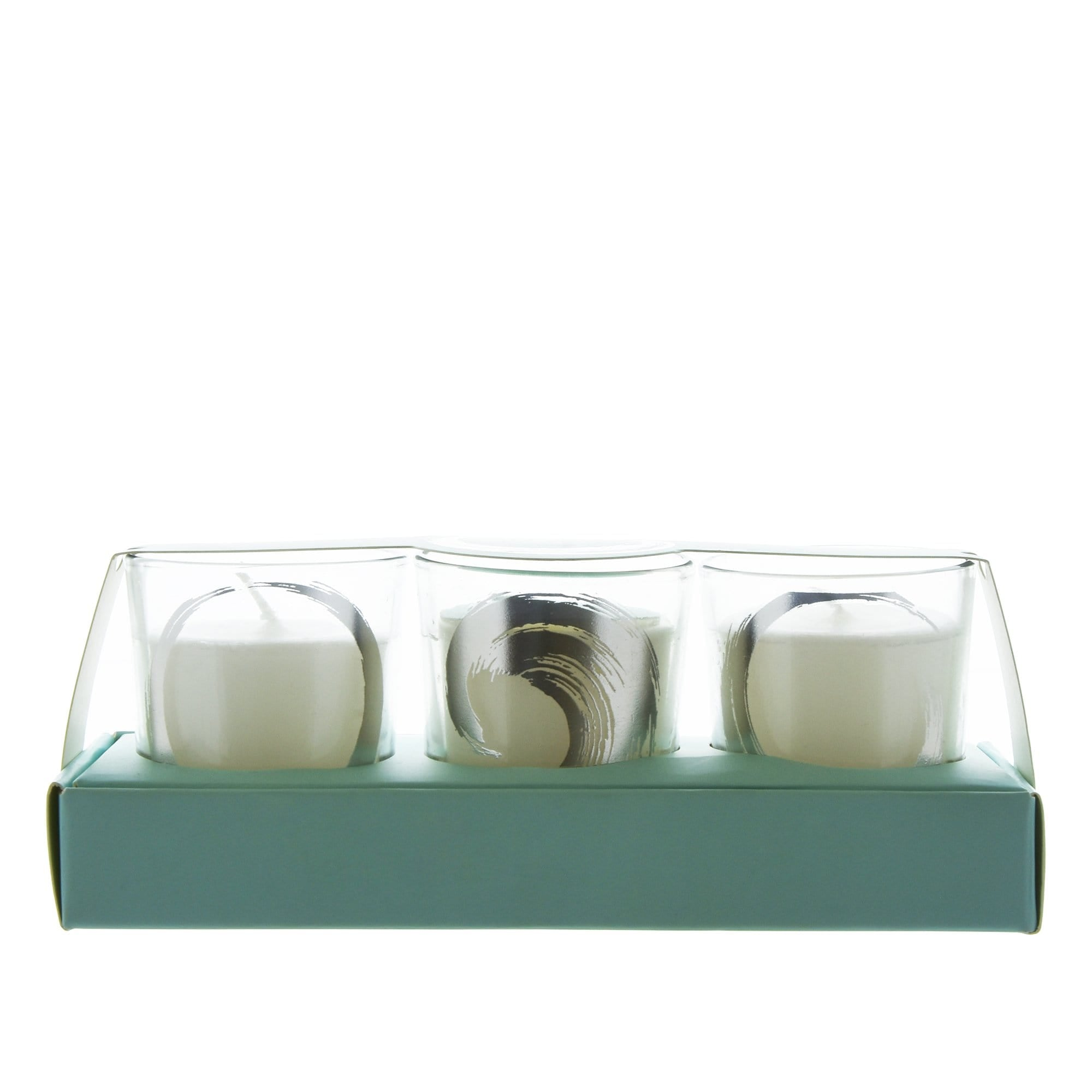 Candlelight Home Candle Candlelight Spa Day Revitalise Set of 3 Glass Wax Filled Pots Green Tea Scent 50g 6PK