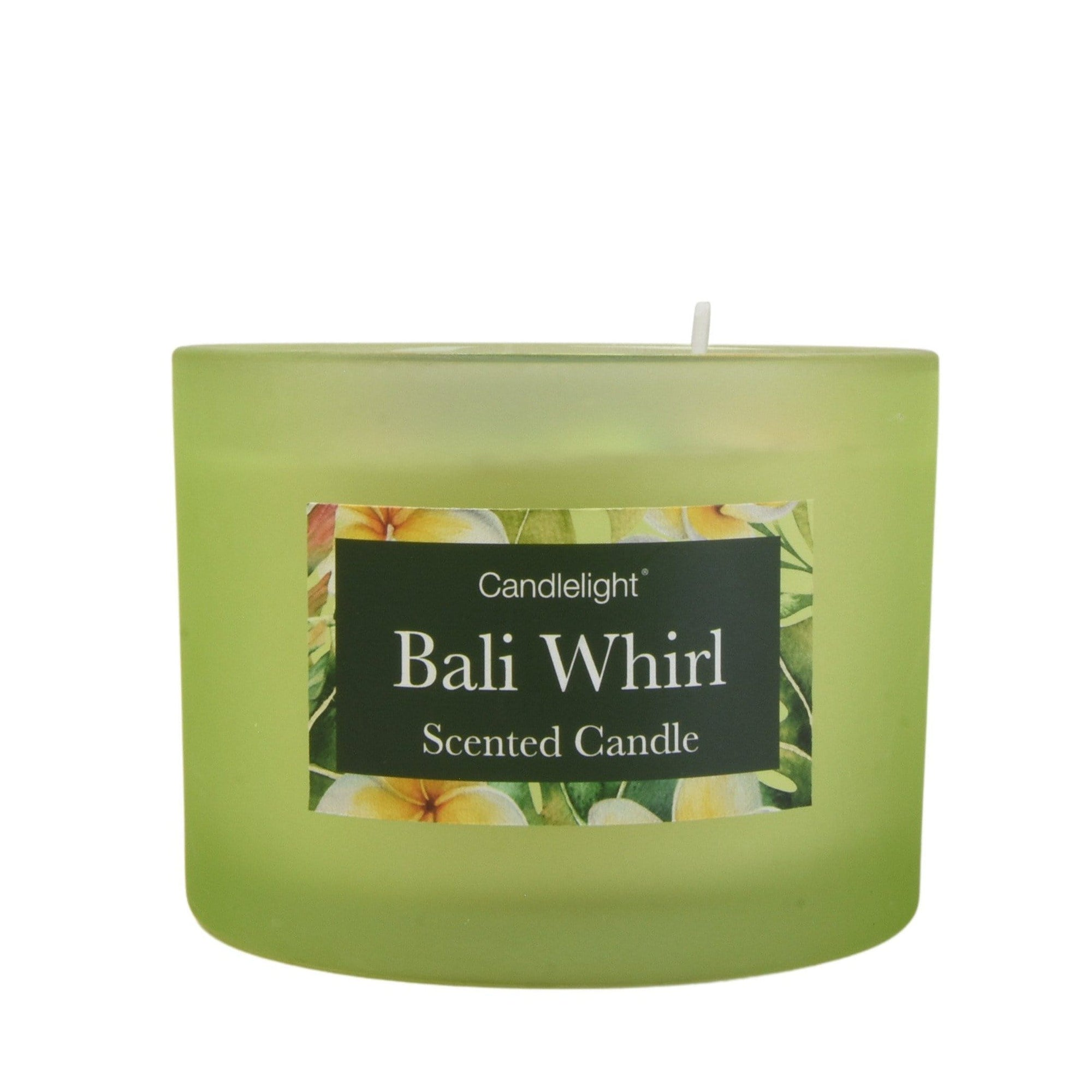 Bali Whirl 2 Wick glass filled Pot Candle Sea Salt Scent 380g 6PK