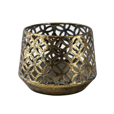 Candlelight Home Candle Holders Antiqued Blackened Brass Tealight Holder Small 6PK