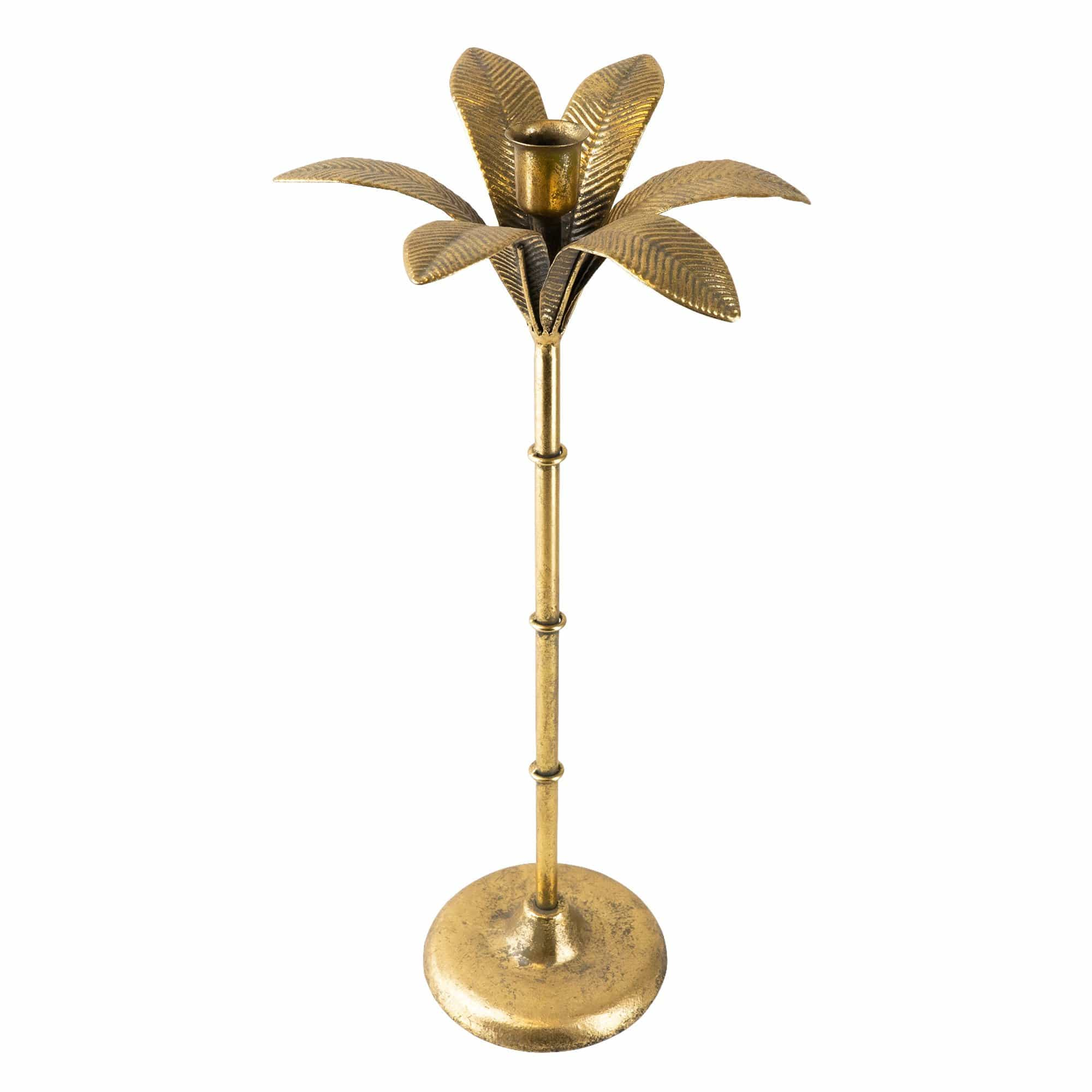 Candlelight Home Candle Holders Gold Palm Tree shaped Candle Holder 41 cm Tall 2PK