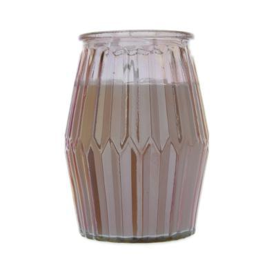 Ridged Glass Wax Filled Pot Candle Prosecco Scent 360g 6PK