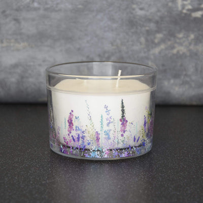Candlelight Home Candle Summer Meadows 2 Wick Glass Wax Filled Pot Candle Floral 8cm 6PK
