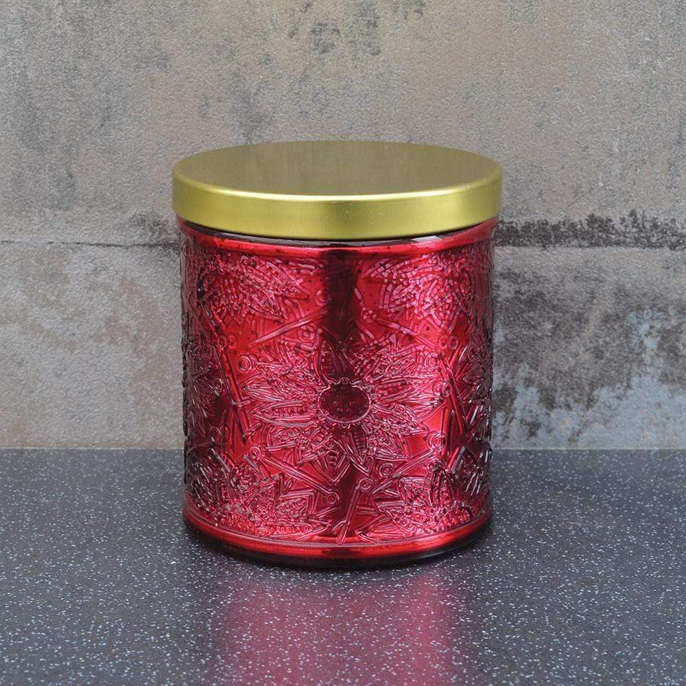 Wax Filled Large Candle Pot with Metal Lid Berry Scent 240g 6PK