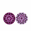 Candlelight Home Coasters Bohemian Assorted Coasters Plum and Gold 10cm 8PK