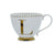 Candlelight Home Cups Initial Footed Mug L Gold Electroplated 9cm 6PK