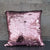 Sequin Covered Large Cushion Cover Silver and Pink 45cm 1PK