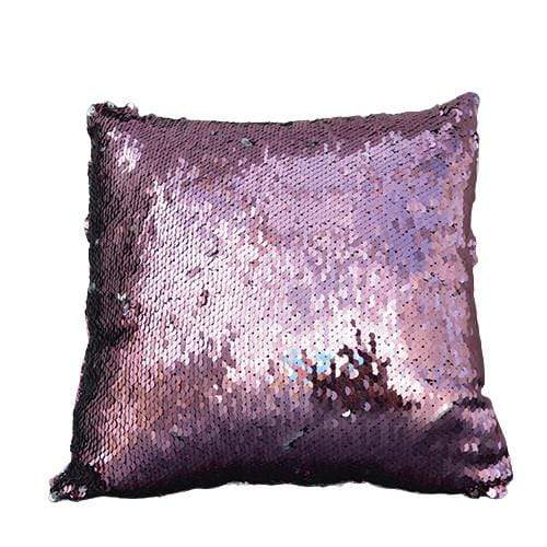 Candlelight Home Cushions Sequin Covered Small Cushion Cover Silver and Pink 30cm 1PK