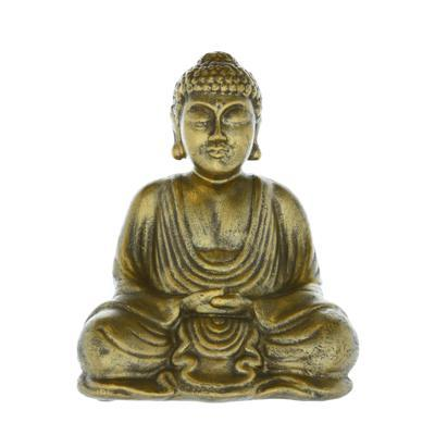 Sitting Buddha Ornament Antique Gold 20cm 4PK