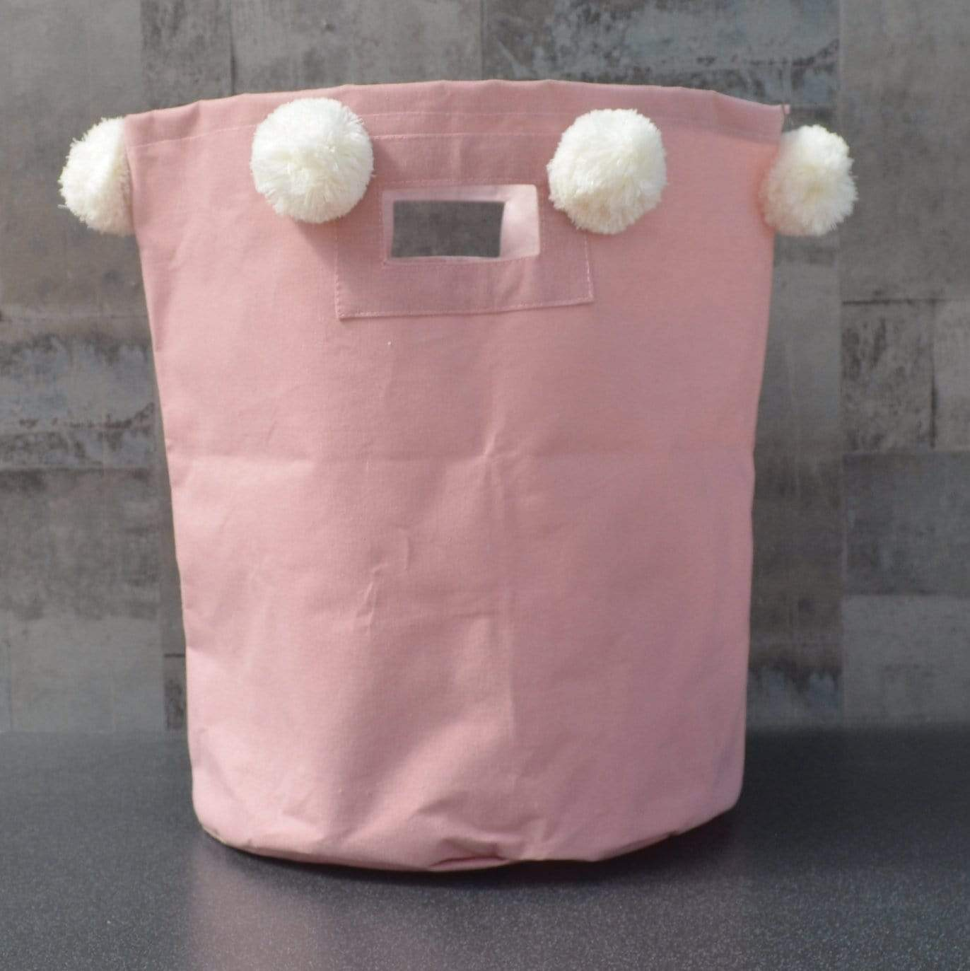Candlelight Home Laundry Bags Laundry Bag with Pom Poms Pink 45cm 1PK