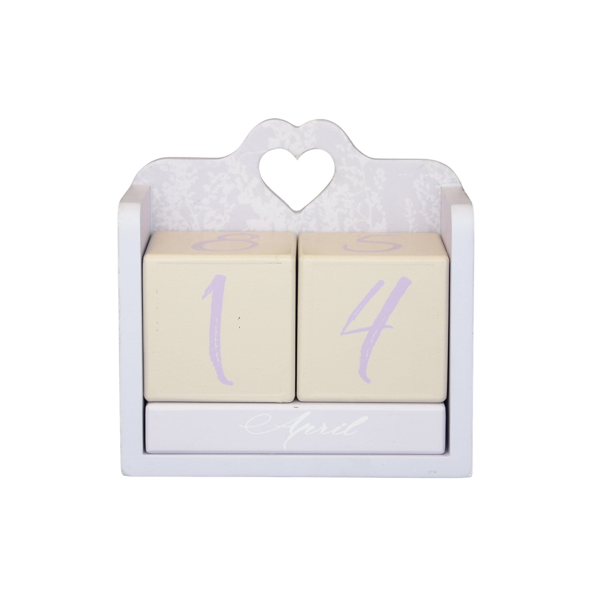 Candlelight Home MDF Calander Block Meadows with Shrinkwrap and Acetate Box White 12cm 6PK
