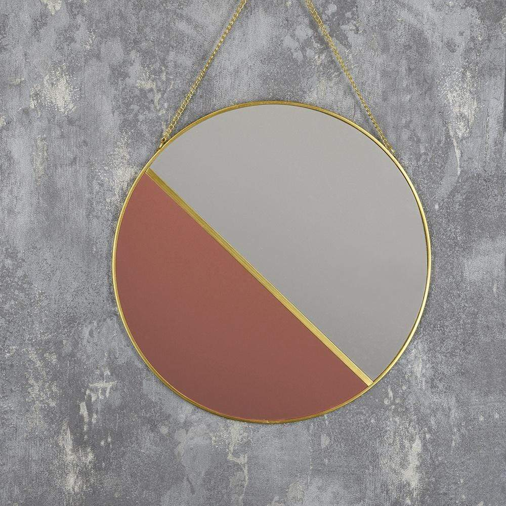 Hanging Mirror Clear and Rose Gold 30cm 6PK