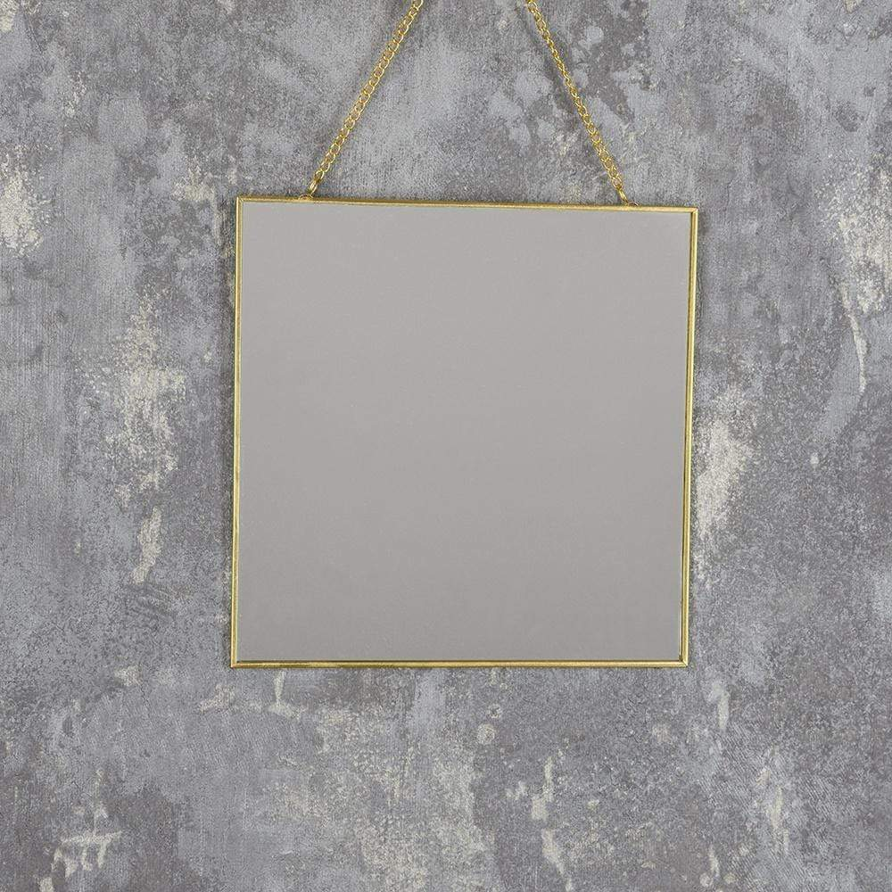 Hanging Mirror Gold 20cm 6PK