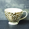 Candlelight Home Mug Animal Luxe Footed Mug Leopard Print Gold 6cm 6PK