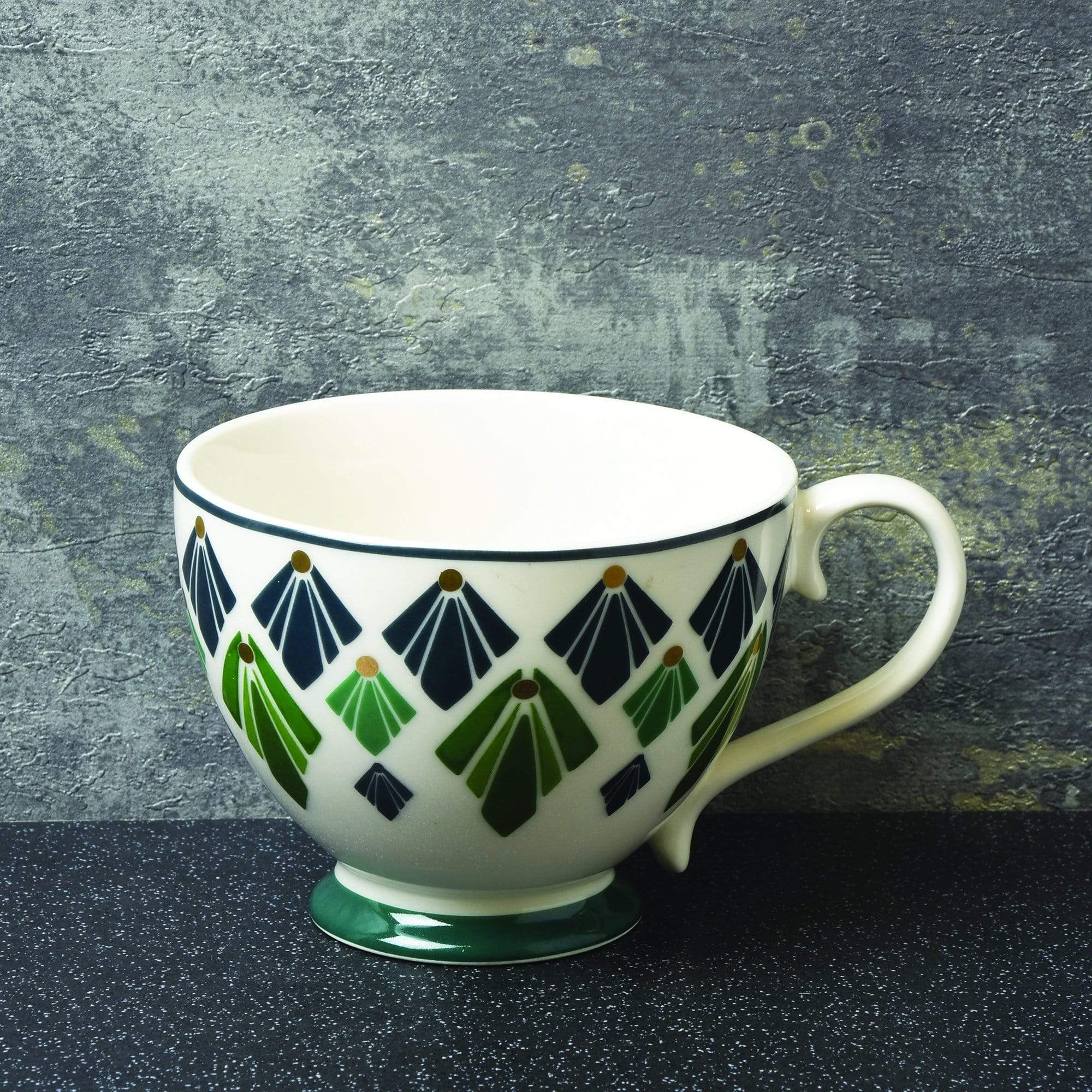Candlelight Home Mug Footed Mug Emerald Print 6cm 6PK