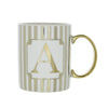 Candlelight Home Mugs Initial Straight Sided Mug A Gold 8cm 6PK