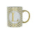Candlelight Home Mugs Initial Straight Sided Mug L Gold 8cm 6PK