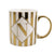 Candlelight Home Mugs Initial Straight Sided N Mug Gold Patterned with Mail Order Packaging 8cm 1PK