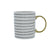 Candlelight Home Mugs Monochrome Stripe MugGold 8cm 6PK