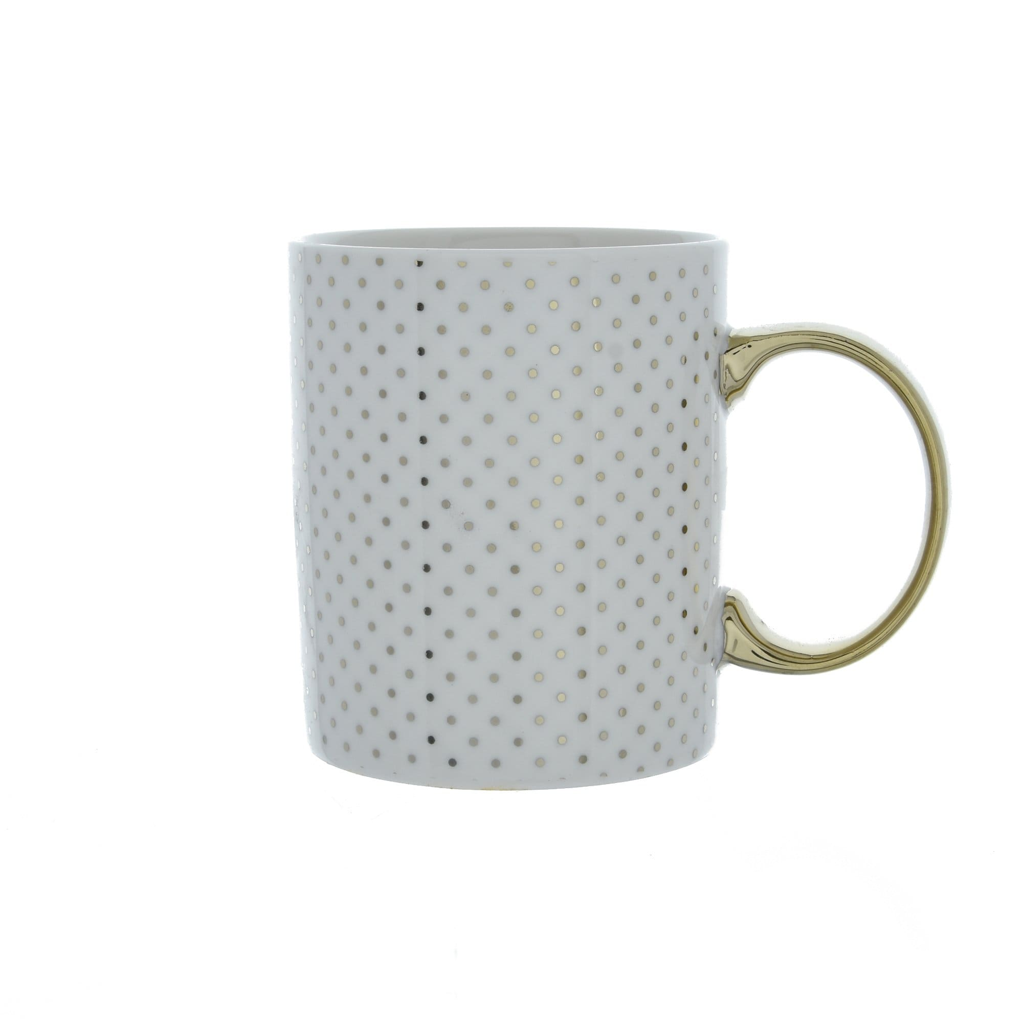 Candlelight Home Mugs Polka Dot Mug Gold 8cm 6PK