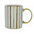 Stripy Straight Sided Mug Gold Electroplated 3.7cm 6PK