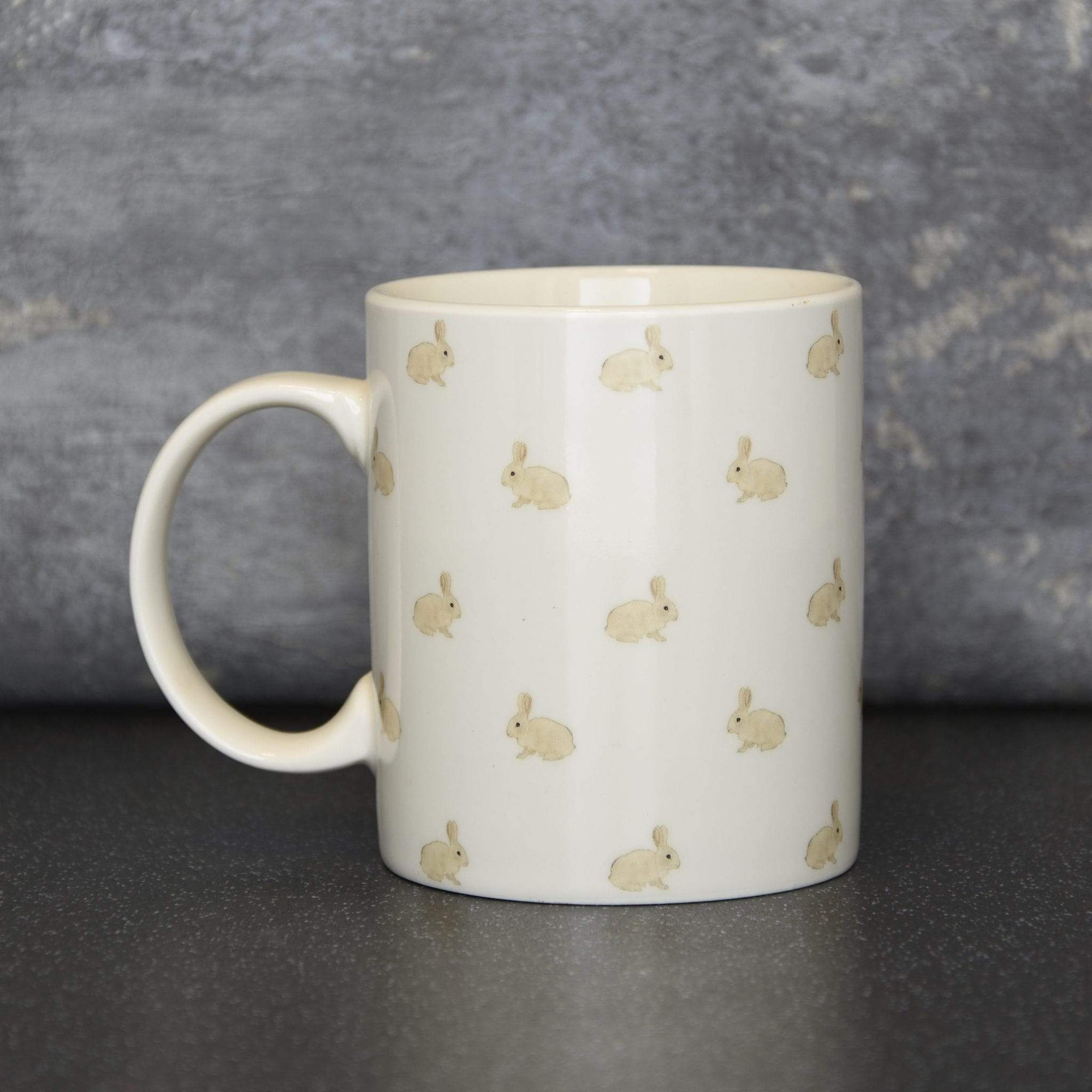 Candlelight Home Mugs Summer Meadows Rabbit Print Mug Cream 9.7cm 6PK