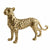 Gold Standing Resin Leopard 21cm Tall 3PK