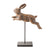 Leaping Rabbit on Stand Large Brown 30cm 4PK