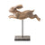 Leaping Rabbit on Stand Small Brown 24cm 4PK