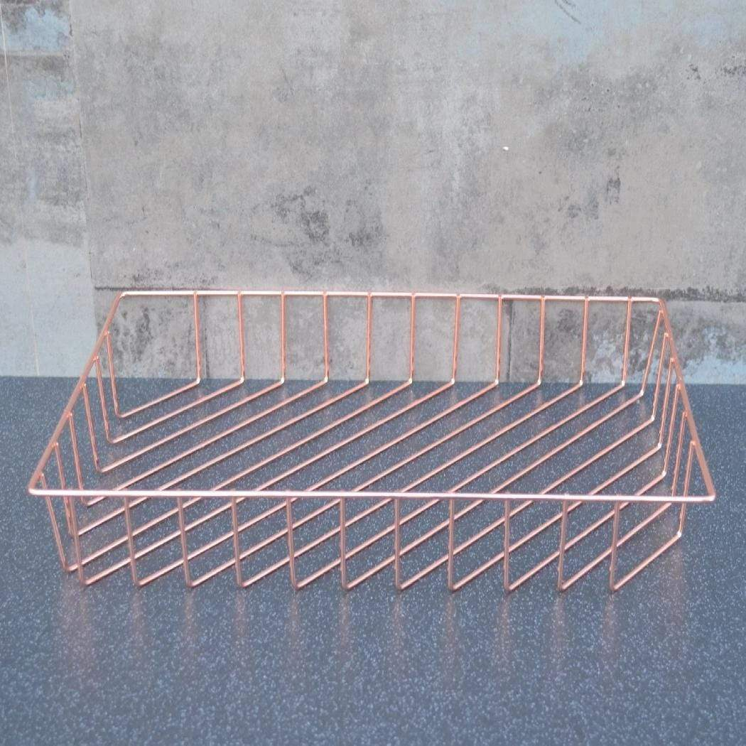 Candlelight Home Paper Trays Wire Paper Tray Rose Gold Electroplated 34cm 6PK