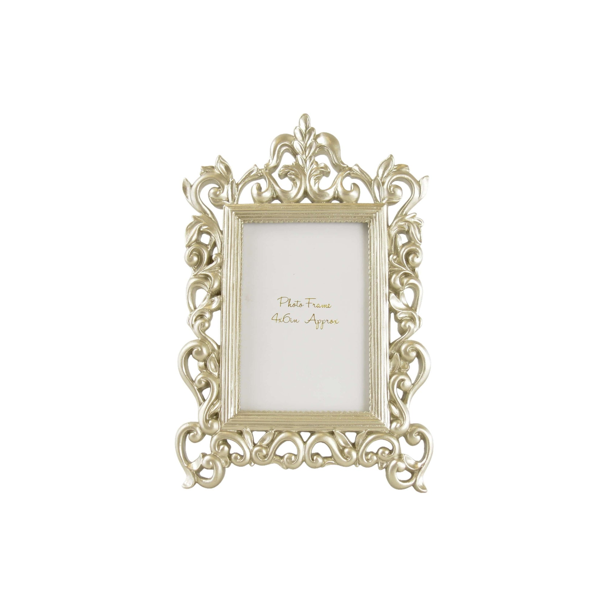 Candlelight Home Photo Frame 4X6' ANTIQUE ORNATE PHOTOFRAME - CHAMPAGNE