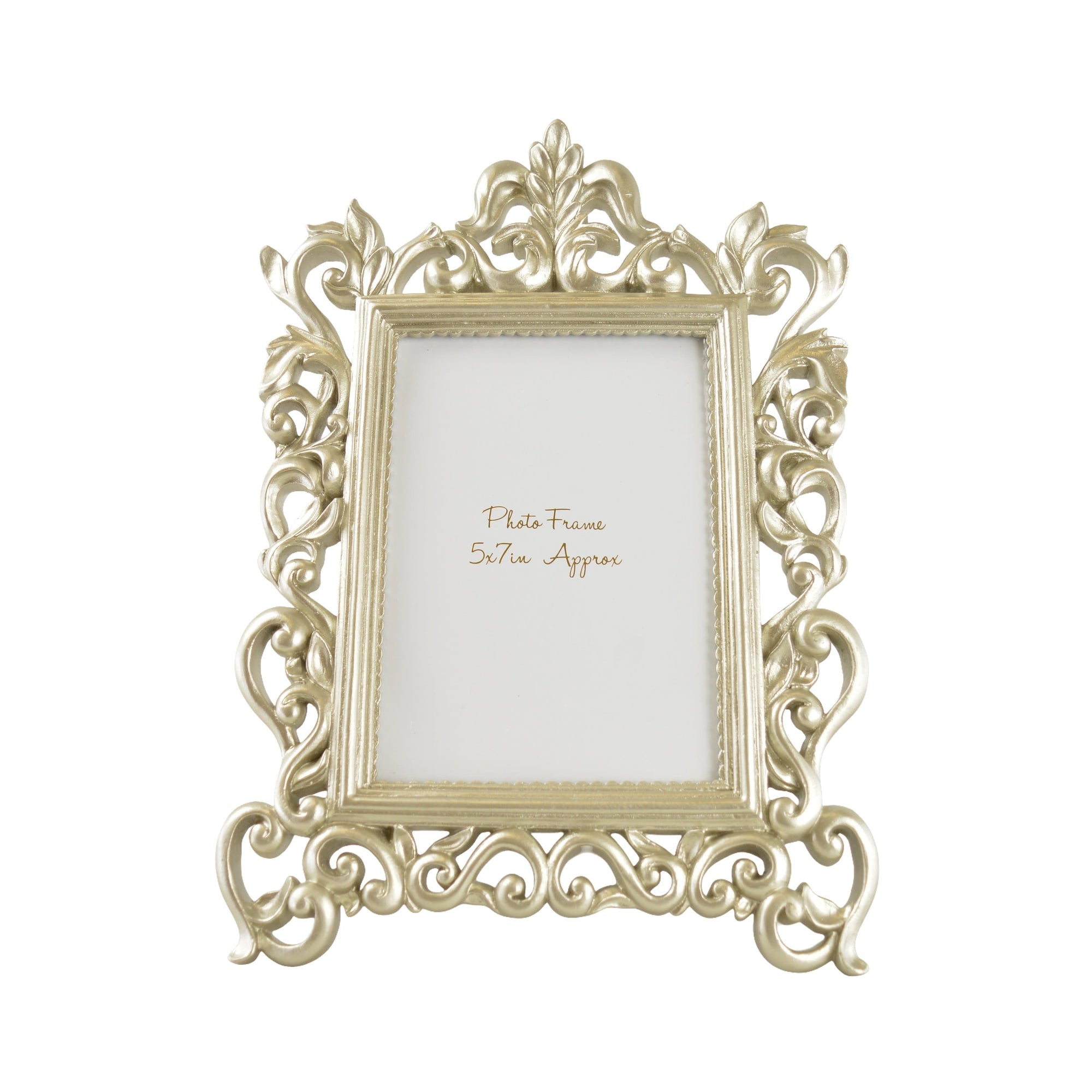 "Candlelight Home Photo Frame 5x7"" ANTIQUE ORNATE PHOTOFRAME - CHAMPAGNE"