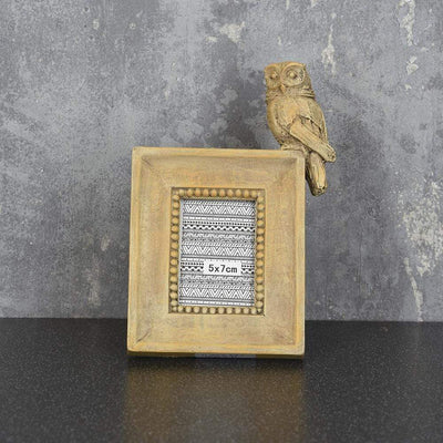 "Candlelight Home Photo & Picture Frames Owl Photo Frame Light Oak 2x3"" 1PK"