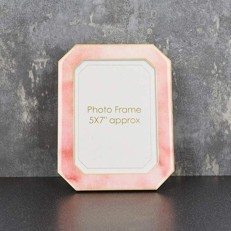 "Candlelight Home Photo & Picture Frames Photo Frame Marble Effect with Gold Edges Pink 5x7"" 6PK"