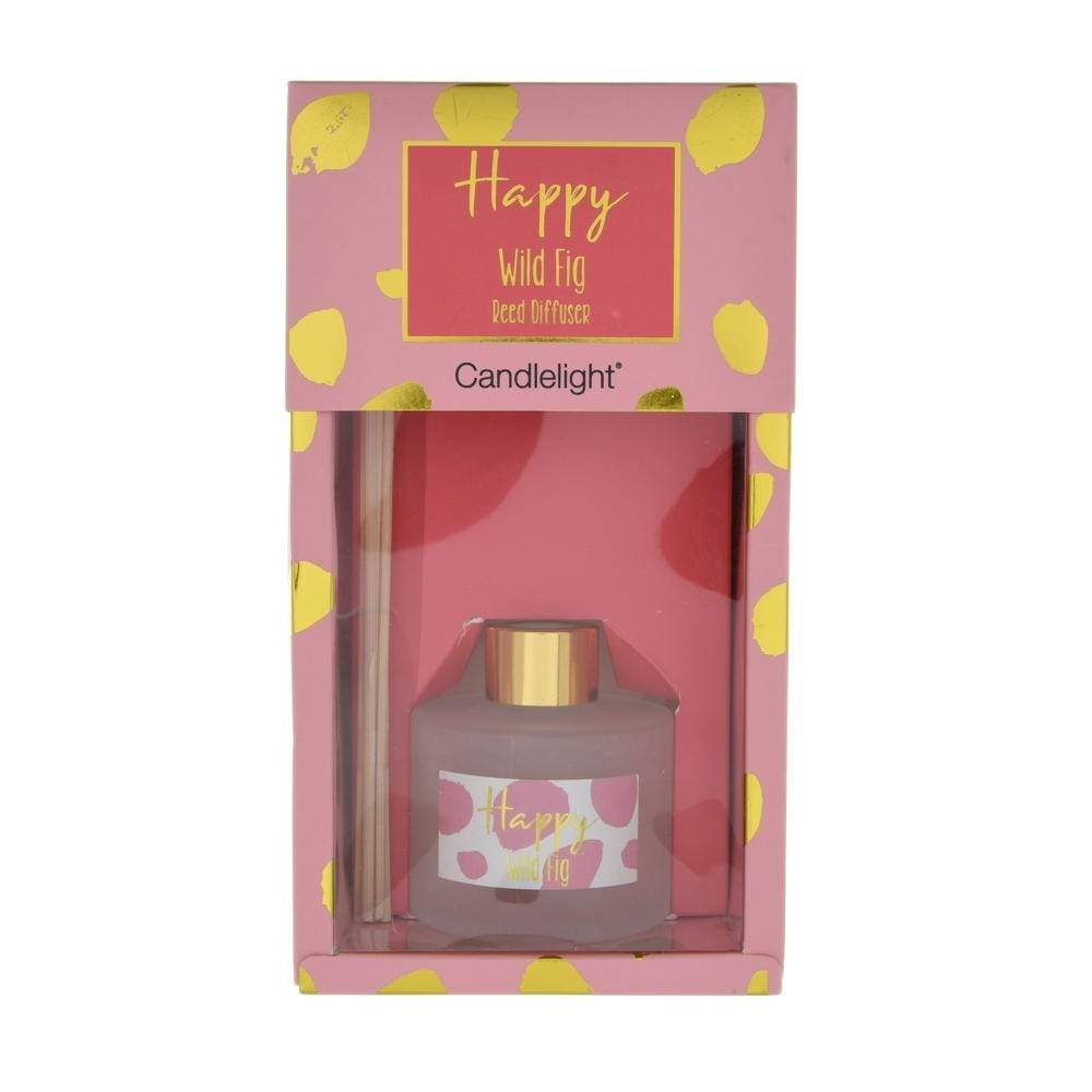 Candlelight Happy Reed Diffuser in Gift Box Wild Fig Scent 100ml 6PK