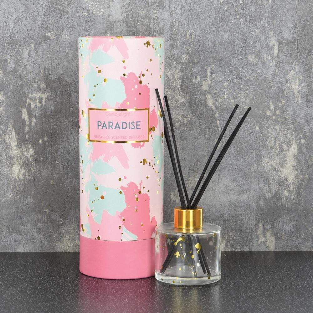 Candlelight Home Reed Diffuser Candlelight Paradise Reed Diffuser in Gift Box Pineapple Scent 150ml 6PK