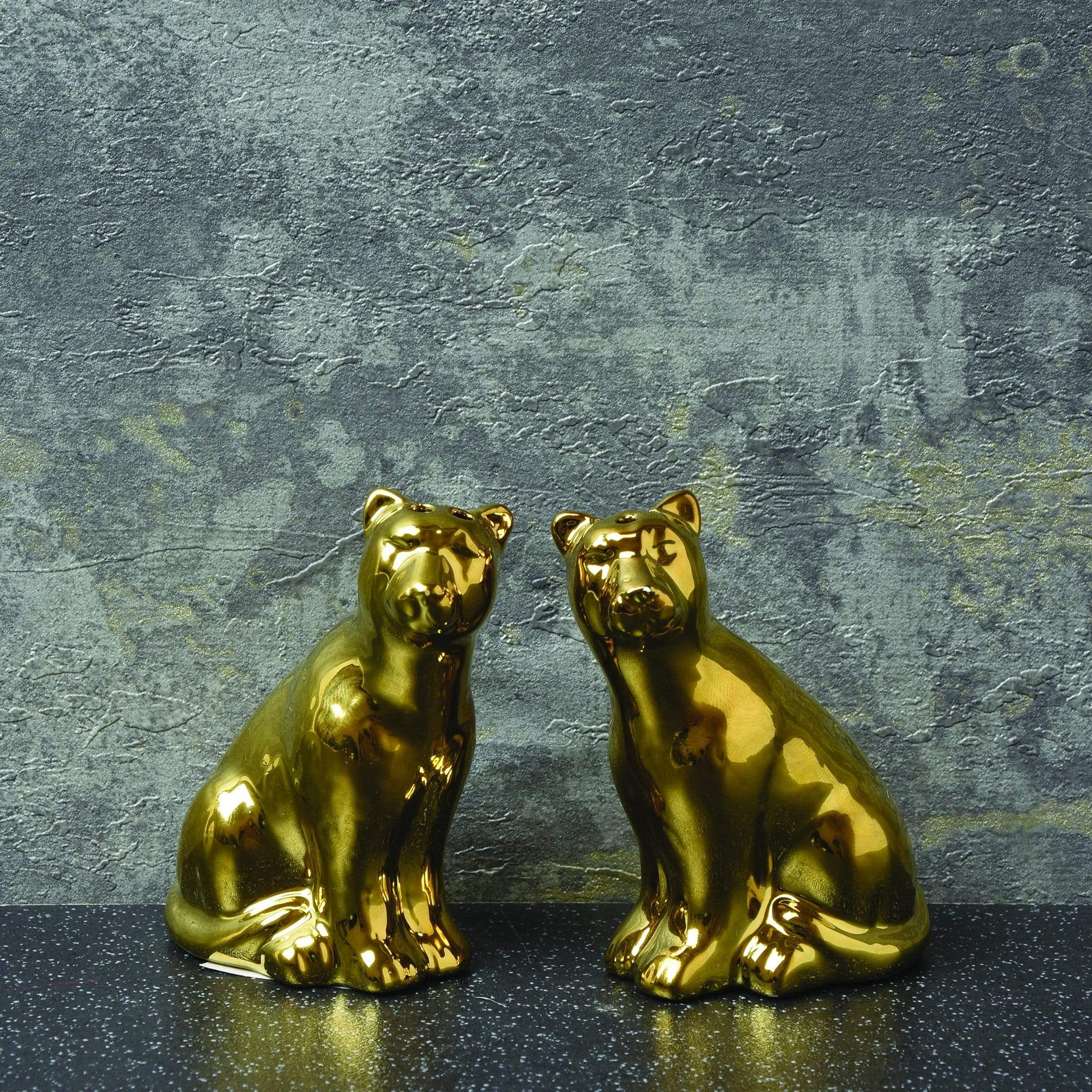 Candlelight Home Salt & Pepper Shaker Leopard Salt & Pepper Shakers Gold 8cm 6PK
