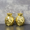 Candlelight Home Salt & Pepper Shakers Deco Glam Pineapple Shaped Salt & Pepper ShakerGold 7cm 6PK