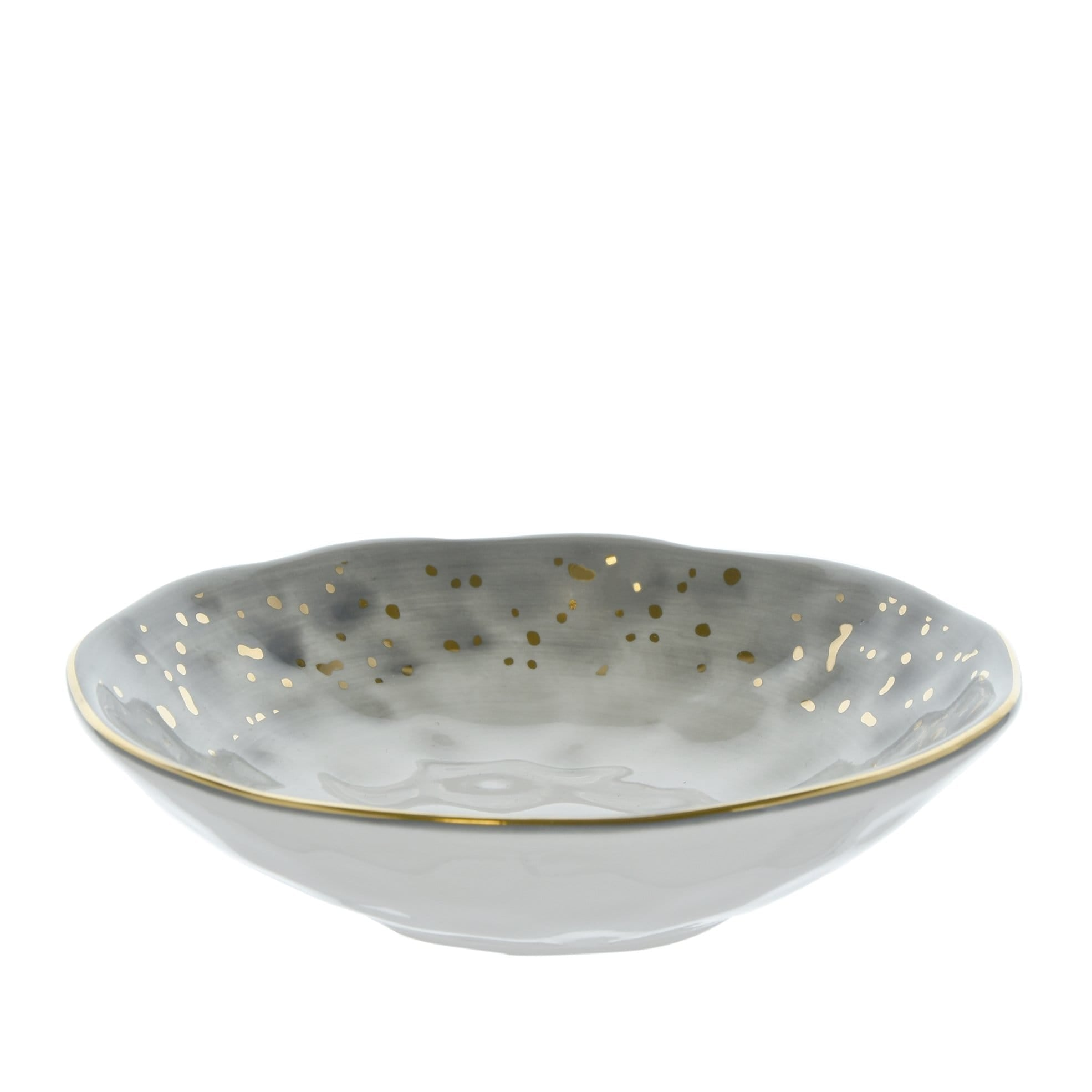 Dimpled Tapas Bowl Black and Gold 15cm 6PK