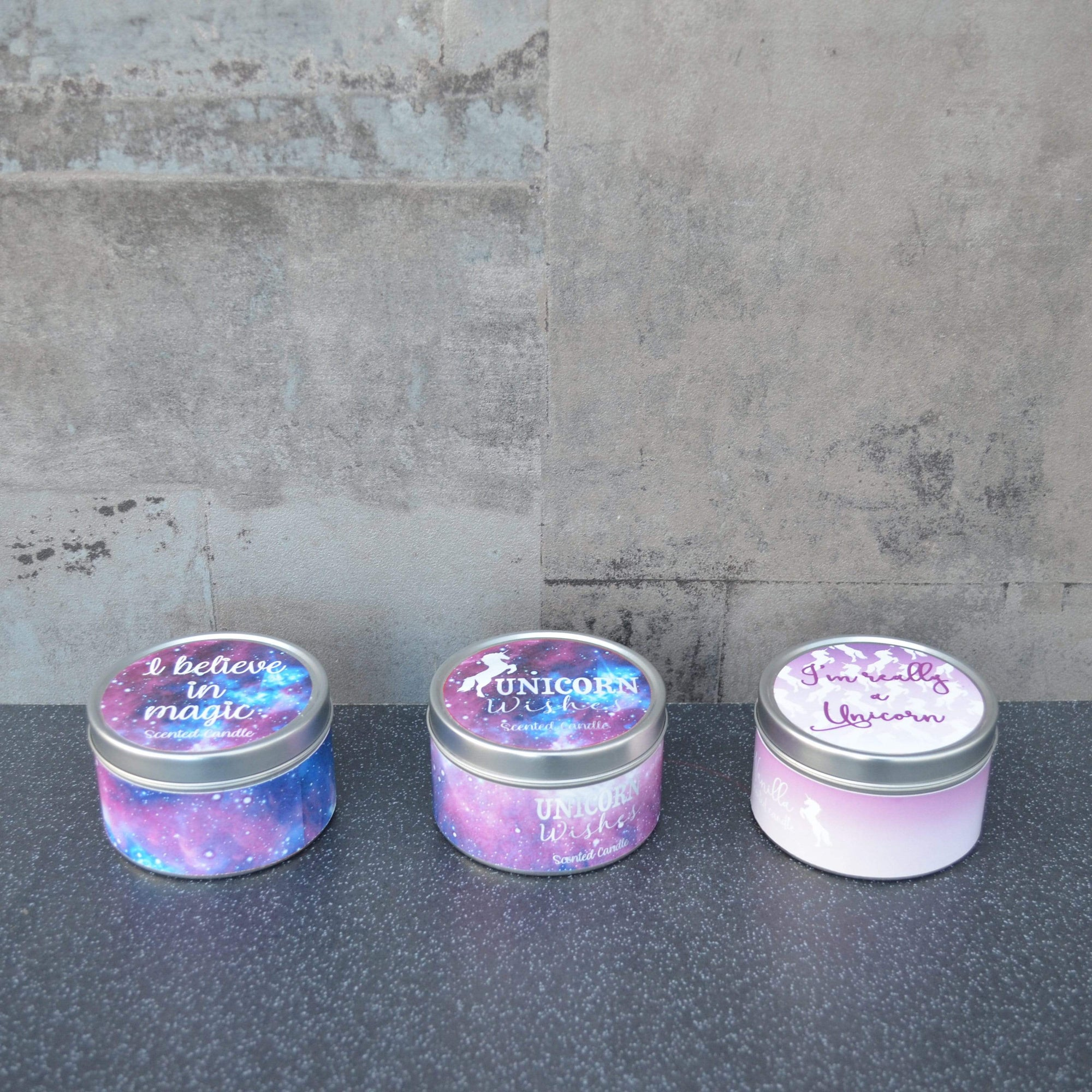 Candlelight Home Tin Candle Assorted Medium Wax Filled Tin Candles Various Scents 125g 6PK