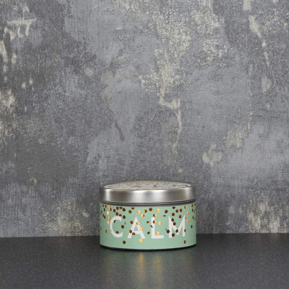Calm Large Tin Candle French Linen Scent 130g 6PK