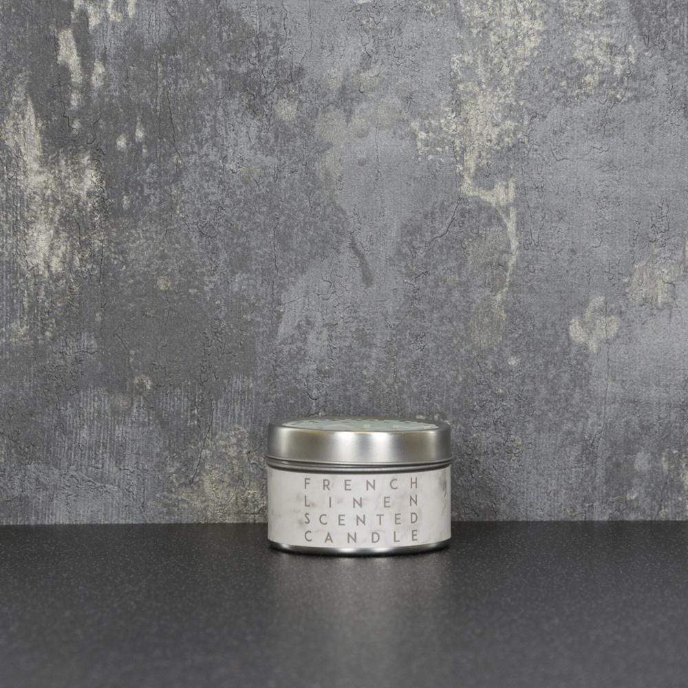 Calm Small Tin Candle French Linen Scent 60g 12PK