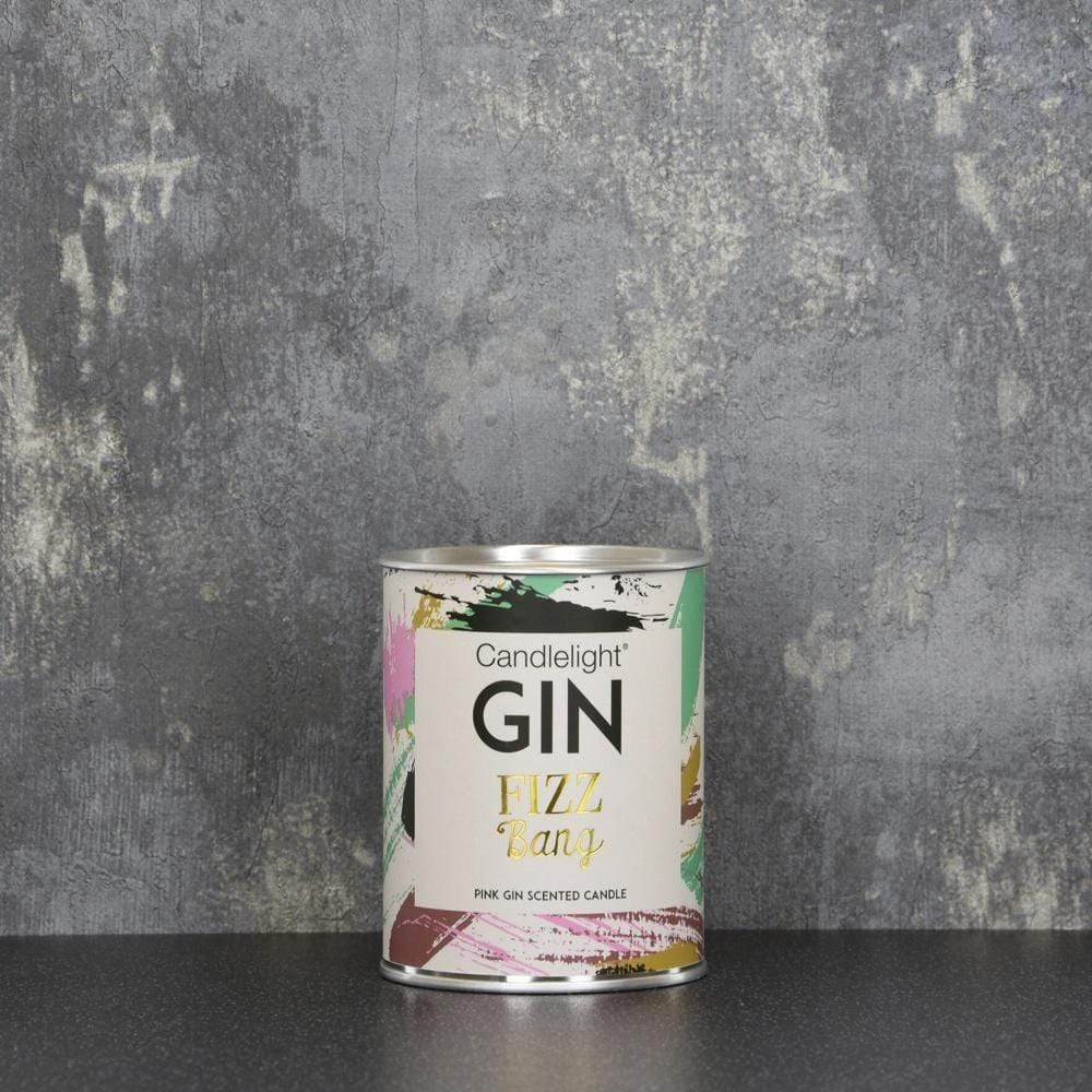 Candlelight Home Tin Candle Candlelight Gin Fizz Bang Large Tin Candle with Ring Pull top Pink Gin Scent 150g 6PK