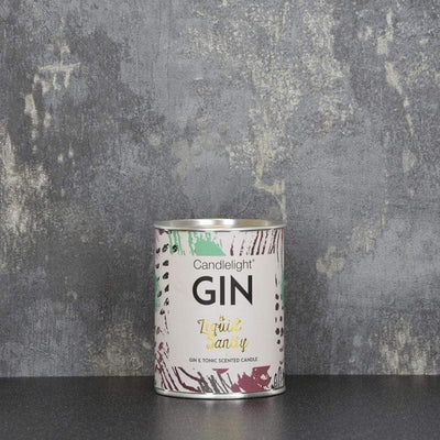 Candlelight Home Tin Candle Candlelight Gin is Liquid Sanity Large Tin Candle with Ring Pull top Gin and Tonic Scent 150g 6PK