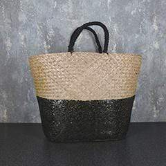 Candlelight Home Tote Bags Sequin Tote Bag Black 58cm 1PK