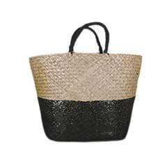 Sequin Tote Bag Black 58cm 1PK